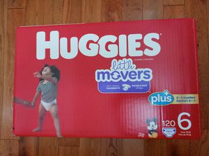 Huggies little movers size 6/120 diapers for Sale in Gardena, CA