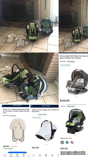 Car seats - Canopy - Head Support for Sale in Beaumont, TX
