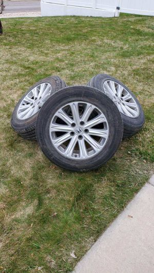 4 USED 235-710R460A 104T M+S TUBELESS Radial XSE MICHELIN ENERGY LX4 WITH RIMS for Sale in Tooele, UT