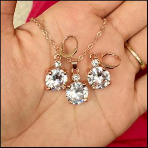18k gold plated topaz jewelry set for Sale in Silver Spring, MD