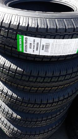 St225 75 r15 trailer tires 10ply. 4 new $220 for Sale in Escondido,  CA