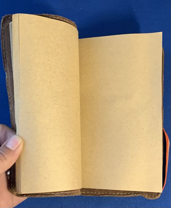 """vintage american eagle leather journal. Dimensions 7""""x5""""."""