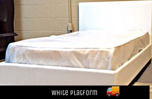 White twin platform bed with mattress and free delivery for Sale in Austin, TX