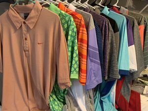Golf shirts different brands size Large for Sale in Cadwell, GA