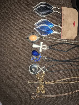 Jewelry-bundle/sweater necklace/earrings/ankh/anchor/etc for Sale in Virginia Beach, VA
