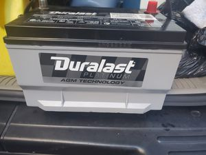 Brand new Duralast Platinum Battery 65-AGM Group Size 65 750 CCA perfect for car audio amp installation for Sale in The Bronx, NY