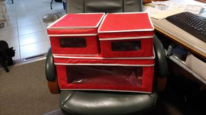 Red canvas storage boxes (3) for Sale in Dublin, OH