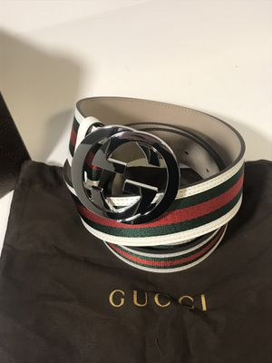 Gucci White Classic Webbed Belt **XMAS SALE!! for Sale in Queens, NY
