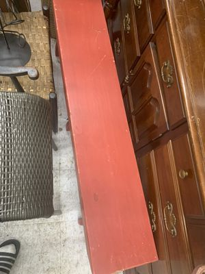 Red wooden bench for Sale in Baltimore, MD
