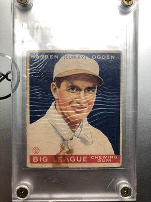 "1933 Goudey Warren ""Curley"" Ogden - VG for Sale in Kent, WA"