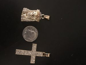 52510cd0732 Jesus piece and Jesus cross combo for Sale in Chesapeake