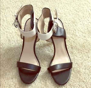 Guess heels black and white with strap size 7.5 for Sale in Falls Church, VA