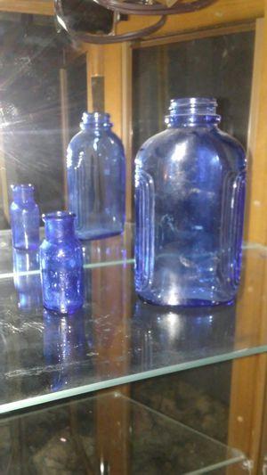 Antique cilbolt blue bottles for Sale in Westminster, CO