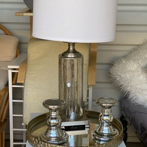 Lamp, Mirrored Tray & Candle Holders for Sale in Mansfield, TX