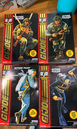 GI-Joe commemorative collection. 3 3/4 in. 4 figures for Sale in Cypress, CA
