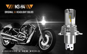1PC H4 9003 Motorcycle LED Headlight Bulbs 30W 4000LM 6500K Xenon White Light 1:1 Original Factory Bulbs With Fan All In One Conversion Kit for Sale in West Covina, CA