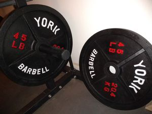 York barbell 45s weights for Sale in Phoenix, AZ