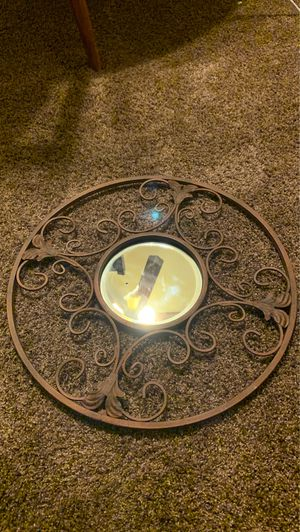 Metal Circle Mirror - Wall Decor for Sale in Hemet, CA
