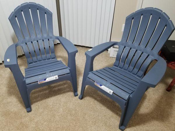 """2 Adam's """"Real Comfort Adirondack"""" Chairs"""
