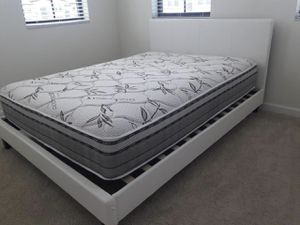 New queen platform bed frame. Dresser. Mirror. Chest. Delivery for Sale in Deerfield Beach, FL