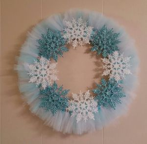 Snowflake Wreath - Baby Blue and White Tulle for Sale in Great Falls, VA