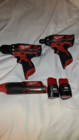 Milwaukee M12 Drill/Driver,hex screwdriver and rotary tool for Sale in West Sacramento, CA