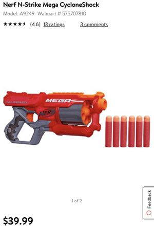 NERF N-Strike Mega CycloneShock Toy Gun Pistola for Sale in South Miami, FL