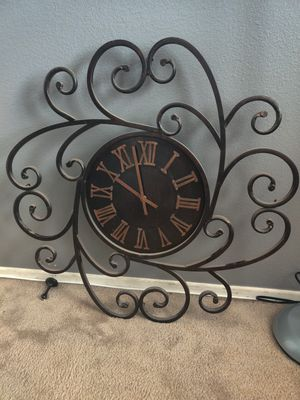 Wrought Iron Design Clock for Sale in Beaumont, CA