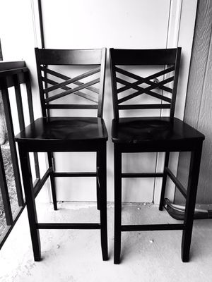 29 Inch Bar Stool Pair - Black for Sale in Lakewood, CO