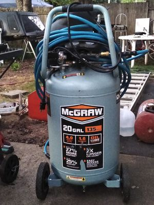 McGraw 20gal. 135-PSI Air compressor. for Sale in Eugene, OR