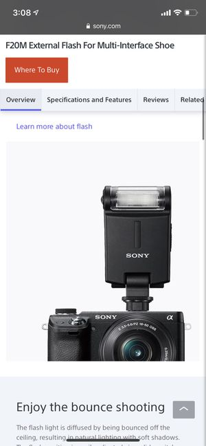 Sony Camera External Flash HVL-F20M for Sale in Long Beach, CA