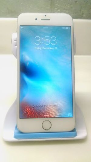 iPhone 6 16gb NOT A PLUS Unclocked Excellent Silver Tmobile Att MetroPcs Verizon Sprint Cricket Boost Simple/Ultra Mexico Asia Central America Europe for Sale in Hammond, IN