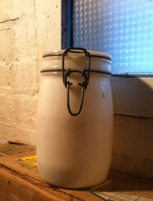 White 1 Liter Bottle Jar- NOT FOR CANNING for Sale in Hicksville, NY