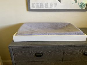 Pottery Barn white changing table topper for Sale in Escondido, CA