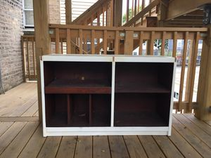 Real wood entertainment unit/record player holder for Sale in Chicago, IL