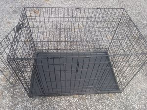 LARGE (36in.) DOG/CRATE/CAGE DOUBLE DOORS BOTTOM TRAY & FOLDS FOR EASY STORAGE & TRANSPORT. FREE DELIVERY for Sale in Philadelphia, PA