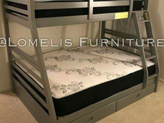 TWIN/FULL BUNK BEDS W MATTRESS INCLUDED. for Sale in Corona,  CA