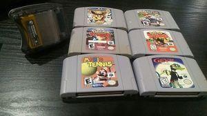 N64 game, Mario party 2, Mario kart, pokemon stadium, Mario tennis for Sale in Seattle, WA