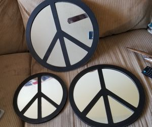 Set of 3 Peace Sign Mirrors for Sale in Rainbow City, AL