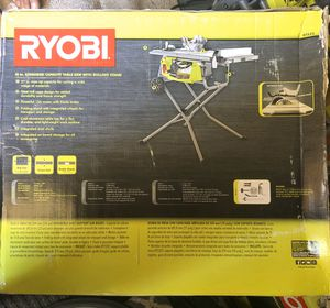 Ryobi, 10 in. Expanded capacity table saw with rolling stand for Sale in Chino, CA