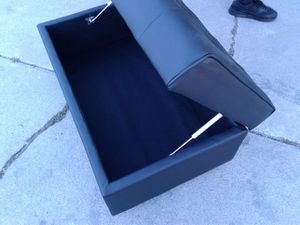 Brand new black ottoman for Sale in West Valley City, UT