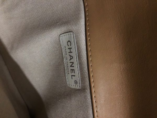 Chanel square quilted Reissue flap bag (tan)