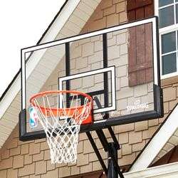 "CLEARANCE | Spalding Accuglide 54"" Acrylic Portable Basketball Hoop 