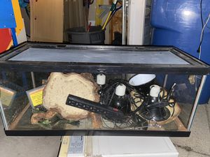 A large Tank with lights, accessories and a screen on top for Sale in Chicago, IL