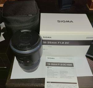 Sigma 18-35mm F1.8 DC Art Lens for Canon EF for Sale in Aurora, IL