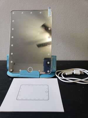 21 LED Vanity Makeup Mirror with LED Light Portable Travel Compact Mirror Gift for Sale in Boca Raton, FL