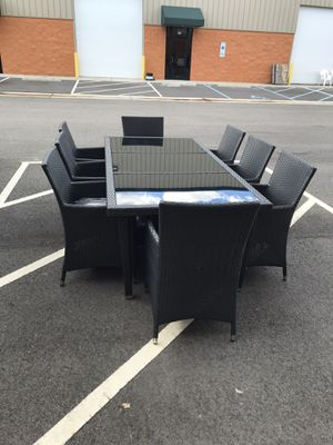 Brand New 9 Piece Outdoor Patio Dining Table Set for Sale in Virginia Beach, VA