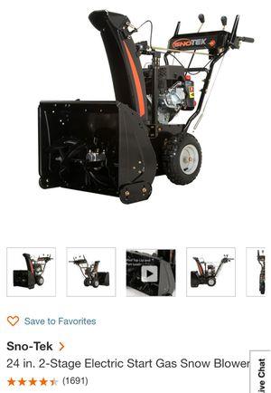 Sno-Tek snow blower for Sale in Ashburn, VA