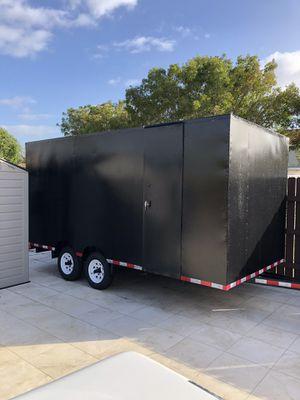 STORAGE TOOLS TRAILER 7x14 enclosed trailee for Sale in Miami, FL