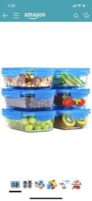 Glass food storage containers for Sale in Irving, TX
